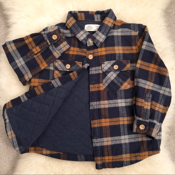 Zara Baby Boy Checkered Flannel Shirt Jacket. M 5a4efb849a9455381600fd0c e5547f24418